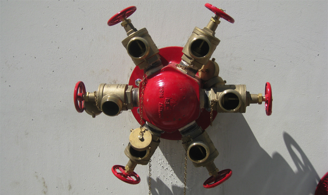 Fire Pump Test Header